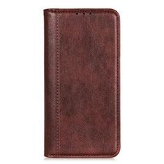 Custodia Portafoglio In Pelle Cover con Supporto L07 per LG Q52 Marrone