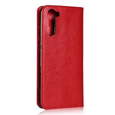 Custodia Portafoglio In Pelle Cover con Supporto L07 per Oppo Reno3 A Rosso