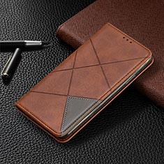 Custodia Portafoglio In Pelle Cover con Supporto L07 per Samsung Galaxy A41 Marrone