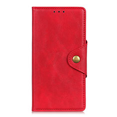 Custodia Portafoglio In Pelle Cover con Supporto L07 per Samsung Galaxy S21 5G Rosso