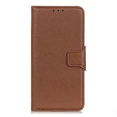 Custodia Portafoglio In Pelle Cover con Supporto L07 per Samsung Galaxy XCover Pro Marrone
