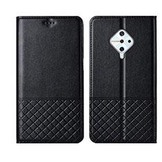 Custodia Portafoglio In Pelle Cover con Supporto L07 per Vivo X50 Lite Nero