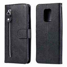 Custodia Portafoglio In Pelle Cover con Supporto L07 per Xiaomi Redmi Note 9 Pro Nero