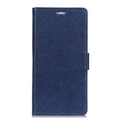 Custodia Portafoglio In Pelle Cover con Supporto L08 per Asus Zenfone 5 ZE620KL Blu