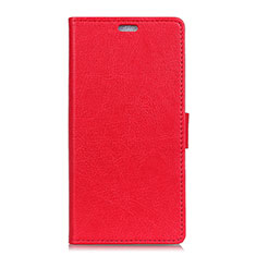 Custodia Portafoglio In Pelle Cover con Supporto L08 per Asus Zenfone 5 ZE620KL Rosso