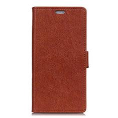 Custodia Portafoglio In Pelle Cover con Supporto L08 per Asus Zenfone 5 ZS620KL Marrone