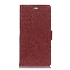Custodia Portafoglio In Pelle Cover con Supporto L08 per Asus Zenfone 5 ZS620KL Rosso Rosa