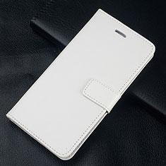Custodia Portafoglio In Pelle Cover con Supporto L08 per Huawei Honor 10 Lite Bianco