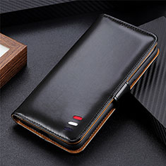 Custodia Portafoglio In Pelle Cover con Supporto L08 per Huawei Honor 9S Nero