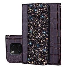 Custodia Portafoglio In Pelle Cover con Supporto L08 per Huawei Mate 20 Pro Nero