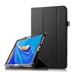Custodia Portafoglio In Pelle Cover con Supporto L08 per Huawei MediaPad M6 10.8 Nero