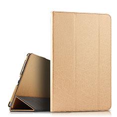 Custodia Portafoglio In Pelle Cover con Supporto L08 per Huawei MediaPad M6 10.8 Oro