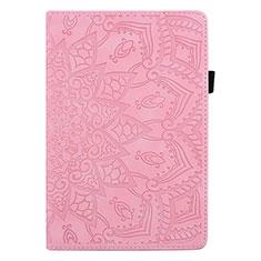 Custodia Portafoglio In Pelle Cover con Supporto L08 per Huawei MediaPad M6 8.4 Rosa