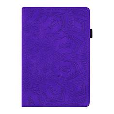 Custodia Portafoglio In Pelle Cover con Supporto L08 per Huawei MediaPad M6 8.4 Viola