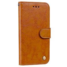 Custodia Portafoglio In Pelle Cover con Supporto L08 per Huawei P20 Pro Arancione