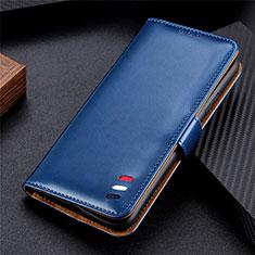 Custodia Portafoglio In Pelle Cover con Supporto L08 per Huawei Y5p Blu