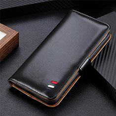 Custodia Portafoglio In Pelle Cover con Supporto L08 per Huawei Y5p Nero