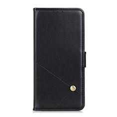 Custodia Portafoglio In Pelle Cover con Supporto L08 per LG K52 Nero
