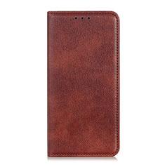Custodia Portafoglio In Pelle Cover con Supporto L08 per LG K92 5G Marrone
