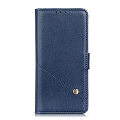 Custodia Portafoglio In Pelle Cover con Supporto L08 per LG Q52 Blu