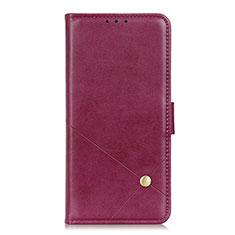 Custodia Portafoglio In Pelle Cover con Supporto L08 per LG Q52 Rosso Rosa