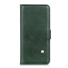 Custodia Portafoglio In Pelle Cover con Supporto L08 per LG Q52 Verde