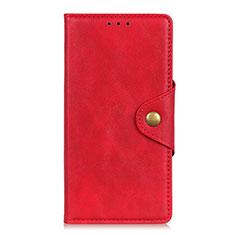Custodia Portafoglio In Pelle Cover con Supporto L08 per Motorola Moto G Fast Rosso