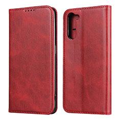 Custodia Portafoglio In Pelle Cover con Supporto L08 per Oppo Reno3 A Rosso