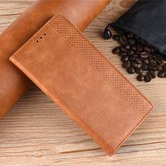 Custodia Portafoglio In Pelle Cover con Supporto L08 per Samsung Galaxy M21s Arancione