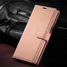 Custodia Portafoglio In Pelle Cover con Supporto L08 per Samsung Galaxy S21 5G Oro Rosa