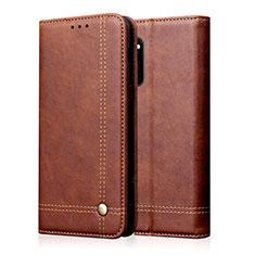 Custodia Portafoglio In Pelle Cover con Supporto L09 per Huawei Honor 30 Marrone