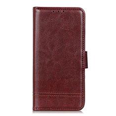Custodia Portafoglio In Pelle Cover con Supporto L09 per Huawei Y5p Marrone