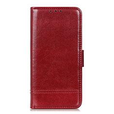 Custodia Portafoglio In Pelle Cover con Supporto L09 per Huawei Y5p Rosso Rosa