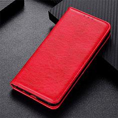 Custodia Portafoglio In Pelle Cover con Supporto L09 per Motorola Moto G 5G Rosso