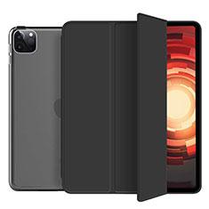 Custodia Portafoglio In Pelle Cover con Supporto L10 per Apple iPad Pro 12.9 (2020) Nero