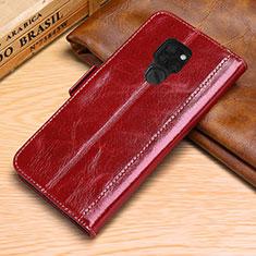 Custodia Portafoglio In Pelle Cover con Supporto L10 per Huawei Mate 20 Rosso