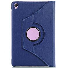 Custodia Portafoglio In Pelle Cover con Supporto L10 per Huawei MediaPad M6 10.8 Blu