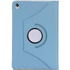 Custodia Portafoglio In Pelle Cover con Supporto L10 per Huawei MediaPad M6 10.8 Cielo Blu
