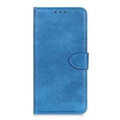 Custodia Portafoglio In Pelle Cover con Supporto L10 per Huawei Y5p Cielo Blu