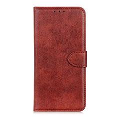 Custodia Portafoglio In Pelle Cover con Supporto L10 per Huawei Y5p Marrone