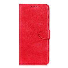 Custodia Portafoglio In Pelle Cover con Supporto L10 per Huawei Y5p Rosso