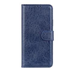 Custodia Portafoglio In Pelle Cover con Supporto L10 per Motorola Moto Edge Blu