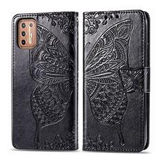 Custodia Portafoglio In Pelle Cover con Supporto L10 per Motorola Moto G9 Plus Nero