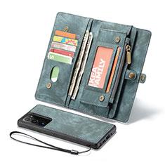 Custodia Portafoglio In Pelle Cover con Supporto L10 per Samsung Galaxy Note 20 Ultra 5G Verde