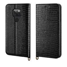 Custodia Portafoglio In Pelle Cover con Supporto L11 per Huawei Mate 20 Nero