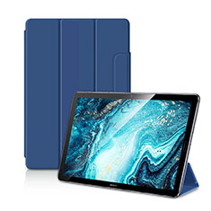 Custodia Portafoglio In Pelle Cover con Supporto L11 per Huawei MediaPad M6 10.8 Blu