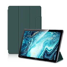 Custodia Portafoglio In Pelle Cover con Supporto L11 per Huawei MediaPad M6 10.8 Verde