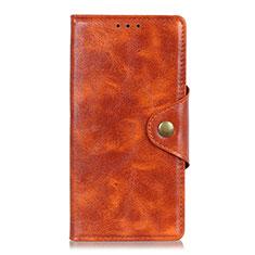 Custodia Portafoglio In Pelle Cover con Supporto L11 per Huawei Y5p Arancione