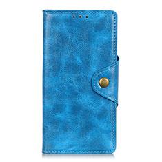 Custodia Portafoglio In Pelle Cover con Supporto L11 per Huawei Y5p Cielo Blu
