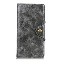Custodia Portafoglio In Pelle Cover con Supporto L11 per Huawei Y5p Grigio